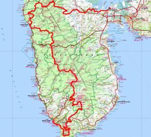 Ultra trail America TRANSKARUKERA GUADELOUPE Mapa de carrera
