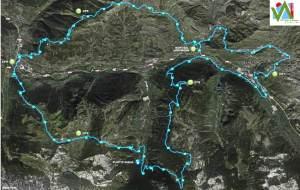 Ultra trail Vall De Aran 2013 Mapa carrera 61k