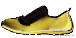 Zapatillas new balance minimus. Corte en sección.