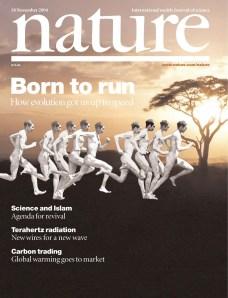 Nacidos para correr  Born to Run Nature cover. El artículo que lo empezó todo.