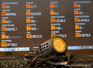 Suunto Ambit 2: Datos numéricos salida entrenamiento trail #MayayoAmbit2