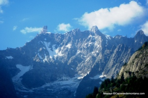 El Macizo del Mont Blanc visto desde Courmayeur