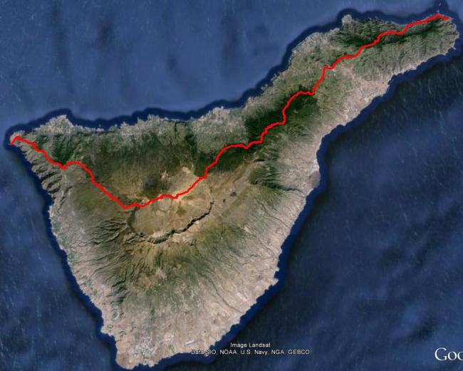 trail running canarias tenerife de faro a faro  mapa (1)