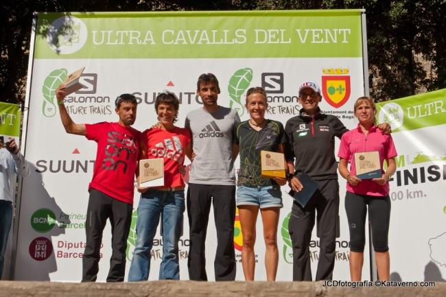 Ultra Cavalls del Vent 2013: Podios masculino y femenino.