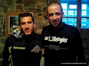 Ancares 3 Trails: El campeón Alfredo Gil con nuestro corresponsal Luis Sola.