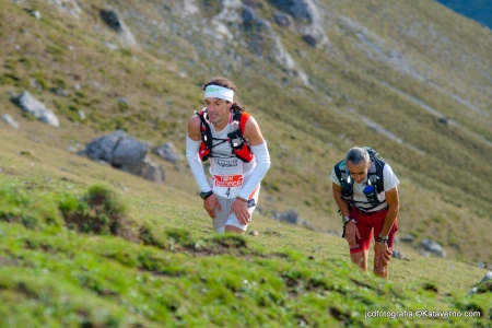 Alfonso Rodríguez en la última gran subida del Desafío Cantabria. Foto: Kataverno.com