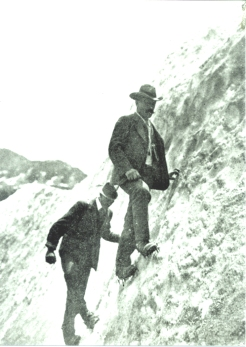 grivel mont blanc history photos Laurent Croux con ramponi Eckenstein_foto Brocherel