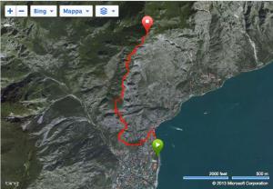 Skyrunning 2013 Limone extreme Kilometro Vertical mapa carrera