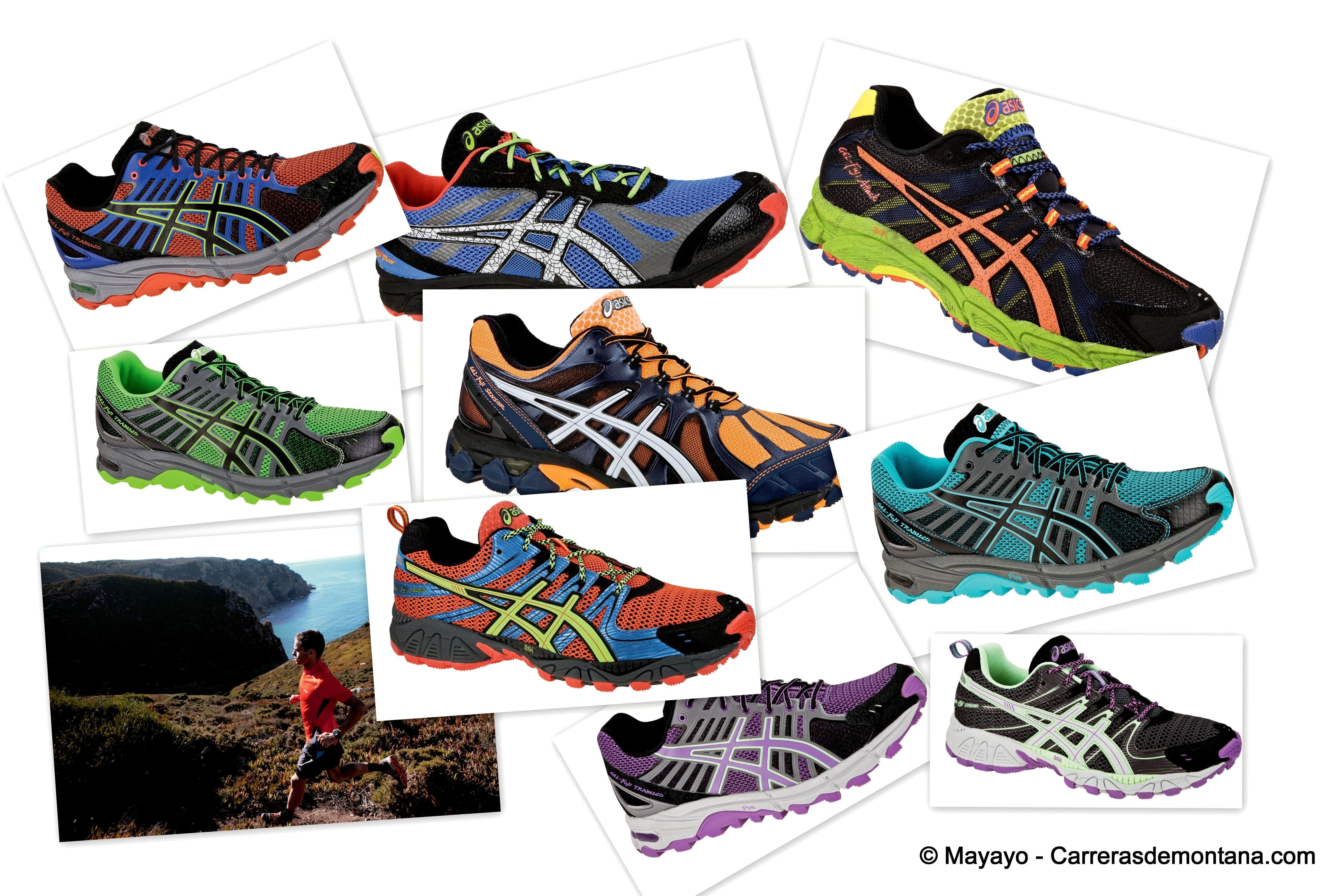 modelos de zapatos asics running