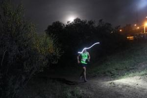 Mike Foote camino a la victoria en TNF Endurance Challenge. Foto: Organización.
