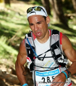 Pedro Bianco, lider al paso del 95k en Gran Trail peñalara 2013