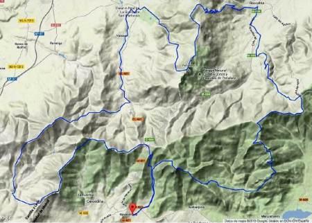 Gran Trail Peñalara 2014 GTP140k Extrem Mapa carrera