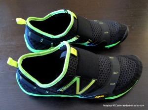 zapatillas new balance minimalistas MT10 slipon. Detalle de la cubierta.