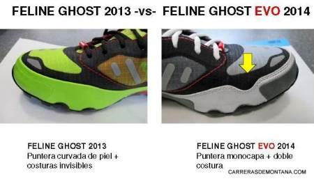 Zapatillas trail Dynafit Ghost 2013 vs Ghost Evo 2014