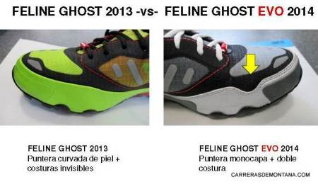 Zapatillas trail Dynafit Ghost 2013 vs Ghost Evo 2014