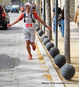 Pedro Bianco llegando vencedor en los 90k Guadarrama Trail 2013