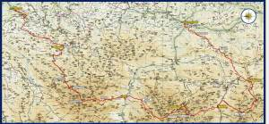 Mapa Travesera Picos Europa