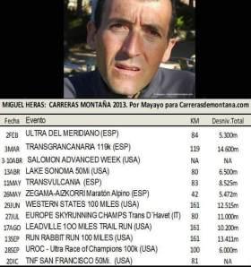 Miguel Heras: Calendario inicial para carreras Montaña 2013.