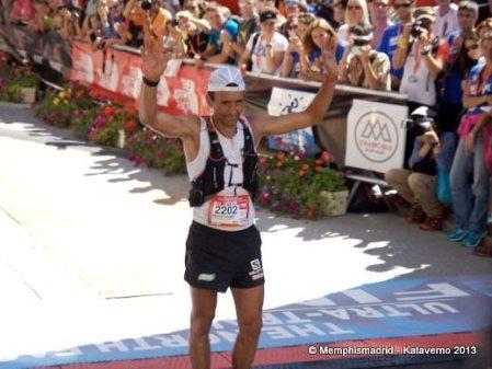 Miguel Heras segundo en UTMB 2013. Foto: Kataverno.