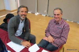 Michel Poletti y Carlos Ultrarun, representantes de ITRA en la presentación.