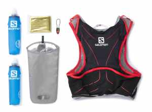 mochila trail running salomon slab 5L kit completo compra