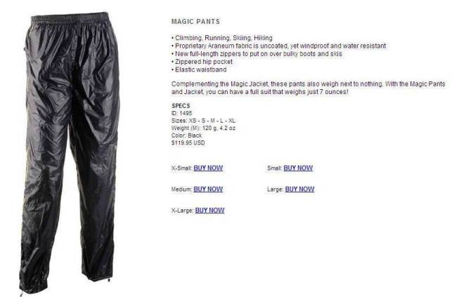 Camp magic pant