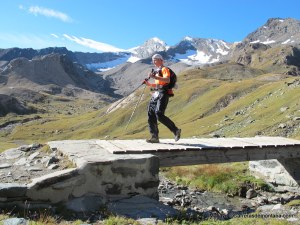 Pantalón impermeable transpirable en Tor des Geants tras superar los 3.300m del Col Loson.