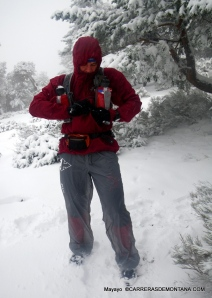 Pantalón impermeable transpirable: Ventisca en Cerro Minguete, Guadarrama.