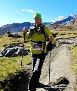 Pantalon impermeable transpirable en Tor des Geants, tras los 3.300m del Col Loson.