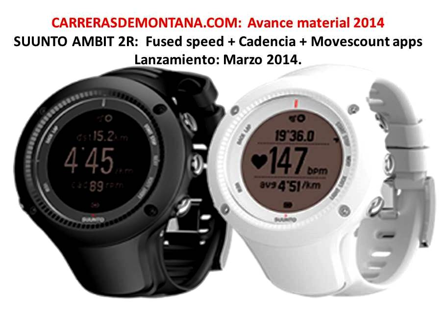 62de7d727443 Suunto Ambit 2R  Nuevo reloj gps trail running (Mar2014) Fused speed