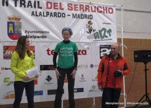 Trail del Serrucho 2014. Podio femenino