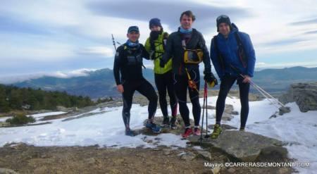 Salida invernal de trail en la cima del Pico Abantos (Escorial)