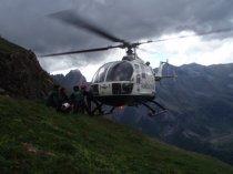Accidente de montaña Helicóptero rescate FOTO 6