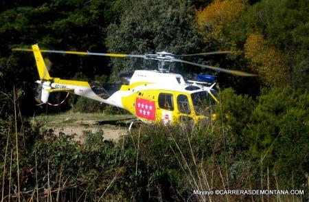 Accidente Montaña: Helicóptero rescate en Pedriza