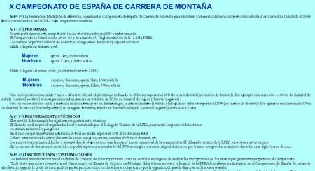 Carreras de Montaña RFEAF 2014