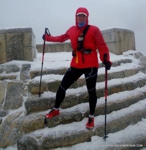 Ventisca invernal en la cima de Cabeza Líjar