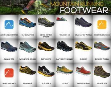 """""""Mountain Running footwear"""" de La Sportiva."""