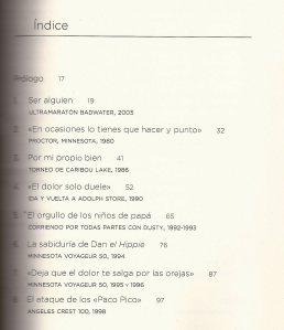 Libros running: Scott Jurek. Indice primera parte.