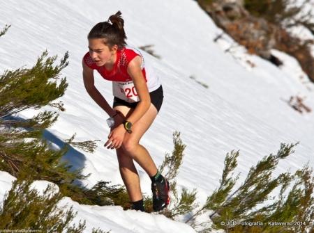 Leire Fernández Abete: 1ª en KMV 2ª en Carrera Alto Sil.