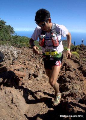 Mochila trail running Ultimate direction Sage Canaday en transvulcania 2013