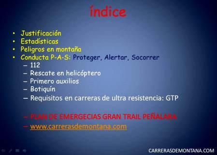 Seguridad en montaña por Isma Muñoz indice