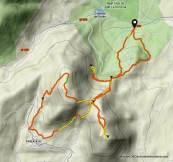 Ruta trail running por Silla Felipe II Las Machotas. Mapa.