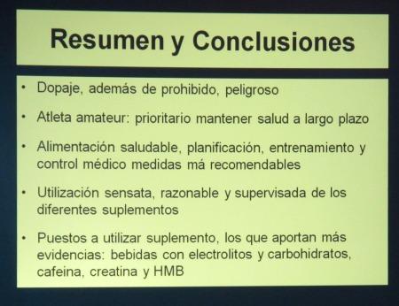 Dopaje y deporte. Resumen ponencia Dr Angel Merchante.