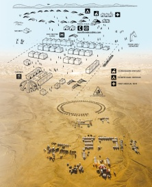Marathon des Sables 2014 ulta trail world tour mapa vivac