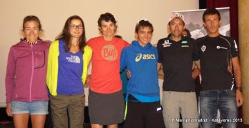 UTMB 2013: Podio masculino y femenino.