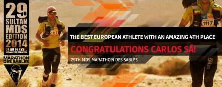 Carlos Sá: Ultrero de referencia. Ultima carrera, 4º en Marathon des Sables 2013.
