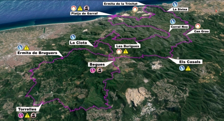 Ultra trail barcelona 2014 Mapa de carrera