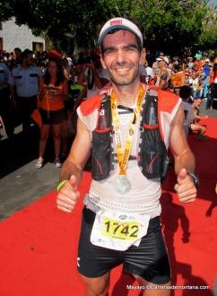La Sportiva Bushido en Transvulcania. Alvaro Rodríguez en meta. Foto: Mayayo.