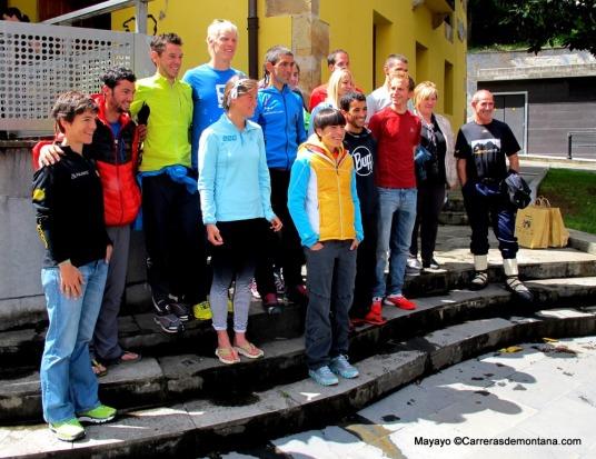 Zegama Aizkorri 2014 fotos presentación carrera, corredores de referencia.