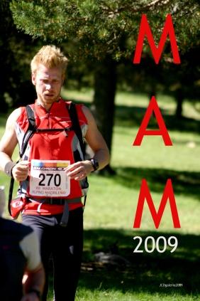 Andreas disputando el Maratón Alpino Madrileño 2009.